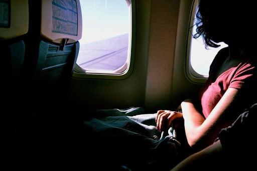 Lady on a flight